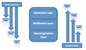 The higher in the stack, the more control the cloud provider has