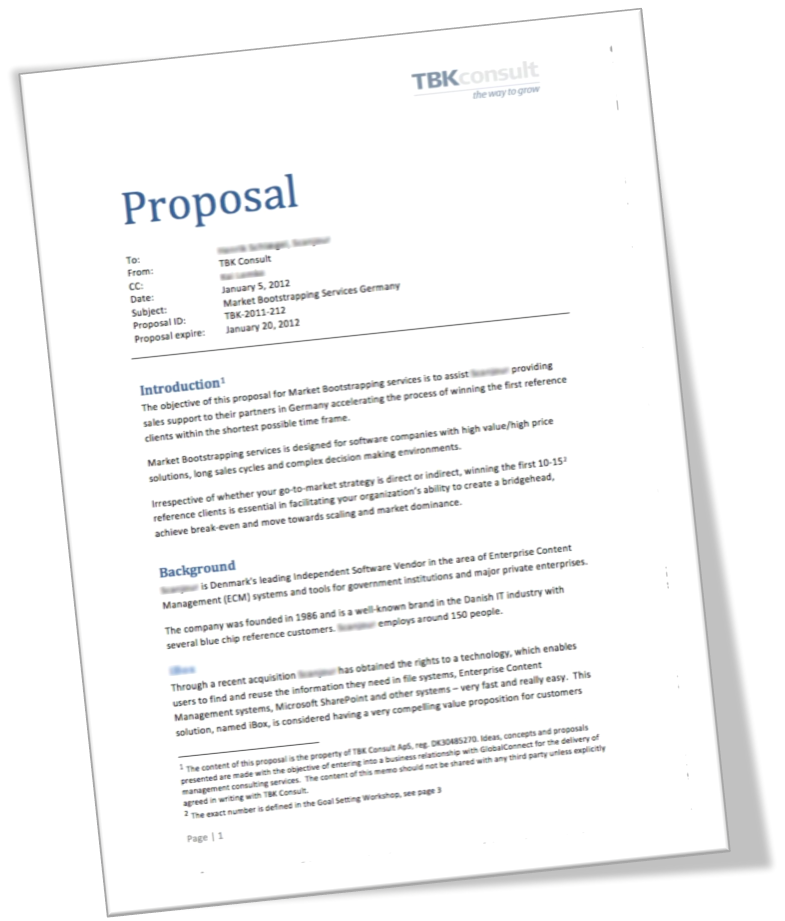 what is proposal How to write a proposal writing a good proposal is a critical skill in many occupations, from school to business management to geology the goal of a proposal is to gain support for your plan by informing the appropriate people.