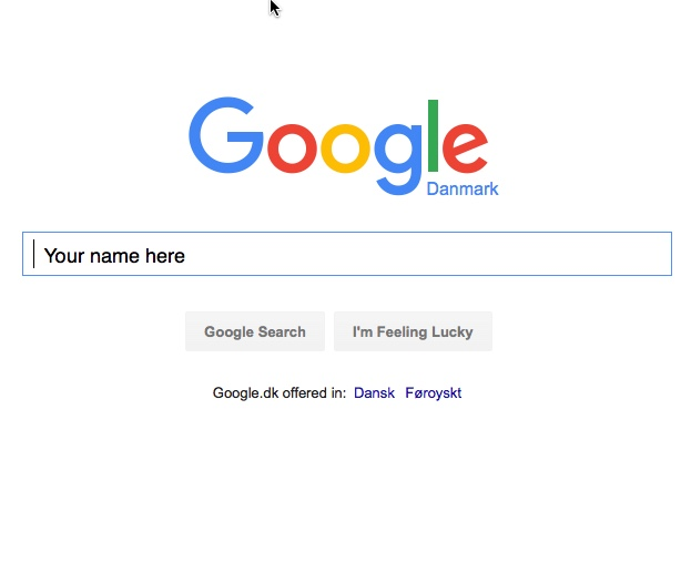 Google your name here